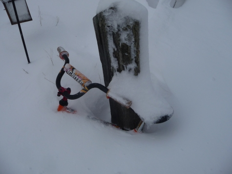 Ready to ride yesterday, buried today.