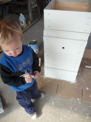 Little painter and the hive body