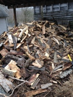 Crazy Wood Pile